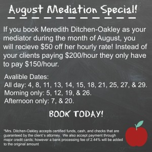 Mediation Special- August 2014